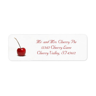 Cherry Address Label