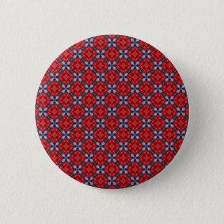 Cherry and Blueberry Stylish Pattern Background Pinback Button