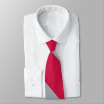 Cherry and Gray University Stripe Tie