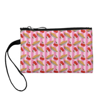 Cherry and pie pattern coin wallet