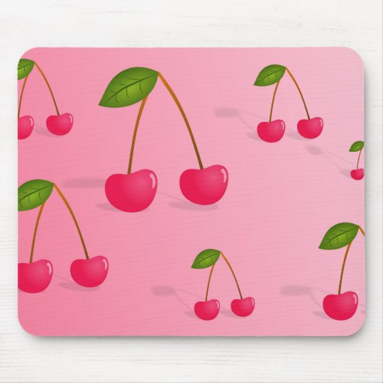Cherry Background Mouse Pad