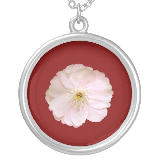 Cherry Blossom 02 Silver Plated Necklace