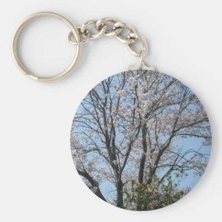 cherry blossom 1 basic round button keychain