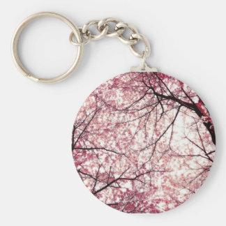 cherry blossom 2 basic round button keychain