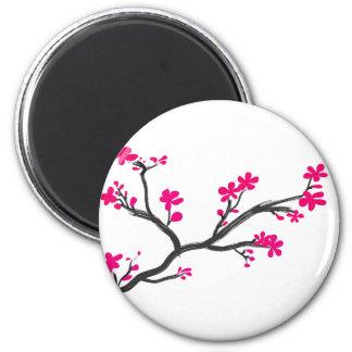 cherry blossom 2 inch round magnet