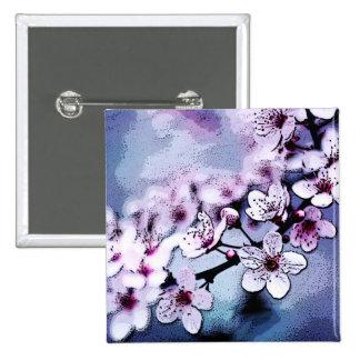 Cherry Blossom 2 Inch Square Button