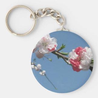 cherry blossom 3 basic round button keychain