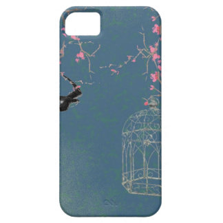 Cherry blossom and birdcage iPhone SE/5/5s case