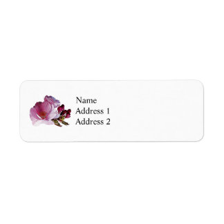 Cherry Blossom and Buds Label