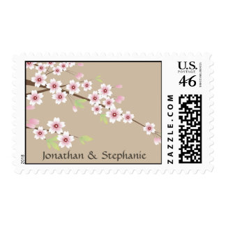 Cherry Blossom and Cream Save the Date Stamps