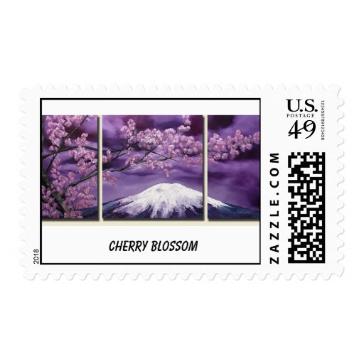Cherry Blossom And Fuji Mountain Postage Stamps
