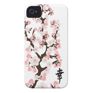 Cherry Blossom and Kanji iPhone 4/4S ID iPhone 4 Case