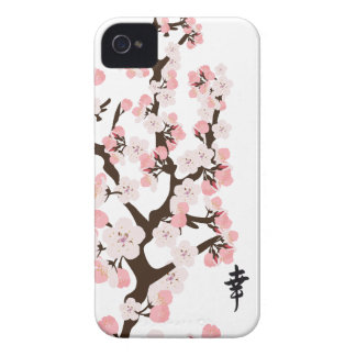 Cherry Blossom and Kanji iPhone 4 Cover
