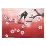 Cherry Blossom and Love Birds American MoJo Placem Cloth Placemat