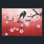 "Cherry Blossom and Love Birds American MoJo Placem Placemat<br><div class=""desc"">Cherry Blossom and Love Birds American MoJo Placemat</div>"
