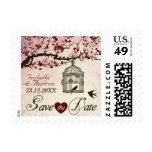 Cherry Blossom and Love Birds Postage