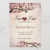 Cherry Blossom and Love Birds Save The Date 2