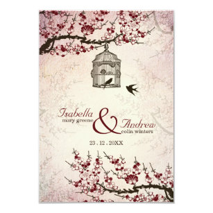 cherry blossom wedding invitations zazzle