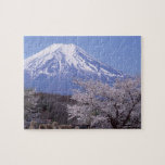 Cherry Blossom and Mt. Fuji Jigsaw Puzzle