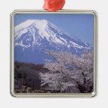 Cherry Blossom and Mt. Fuji Metal Ornament