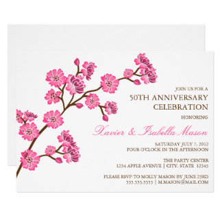 Cherry Blossom | Anniversary Party Invite