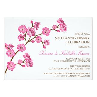 Cherry Blossom   Anniversary Party Invite