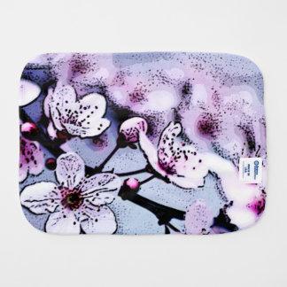 Cherry blossom baby burp cloths