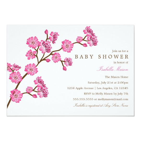 Cherry Blossom Baby Shower Invitation Zazzle