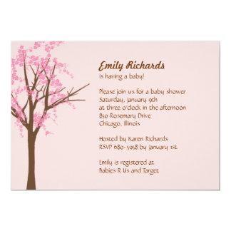 Cherry Blossom Baby Shower Invitation