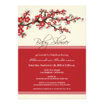 Cherry Blossom Baby Shower Invitation (red)