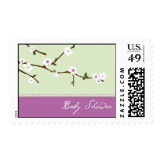 Cherry Blossom Baby Shower Postage Stamps