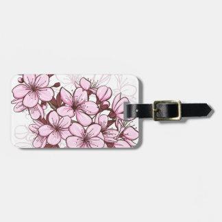 Cherry blossom bag tag