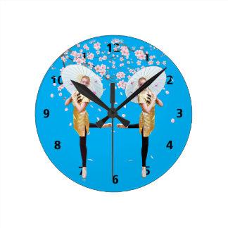 Cherry Blossom Ballerina Customizable Clock