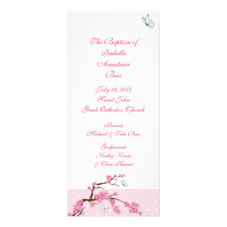 Cherry Blossom Baptismal Program 1/5
