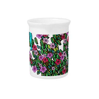 Cherry Blossom Bird Tree Monogram Love Peace Joy Drink Pitchers