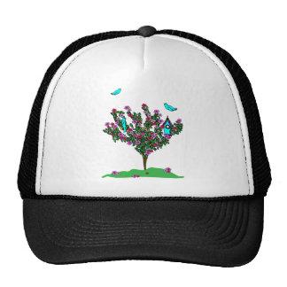 Cherry Blossom Bird Tree Monogram Love Peace Joy Trucker Hat
