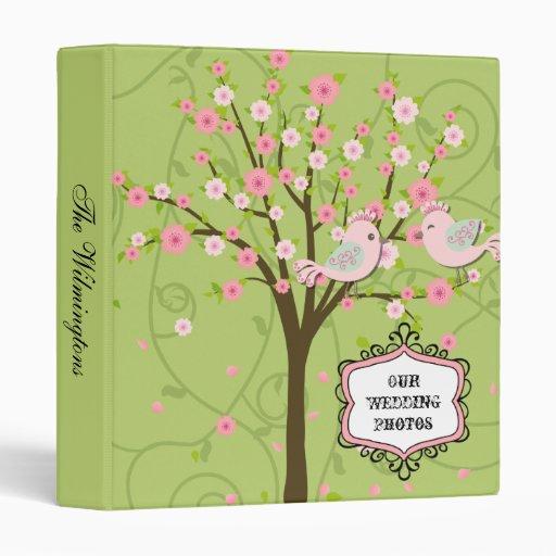 Cherry Blossom Birds Photo Binder