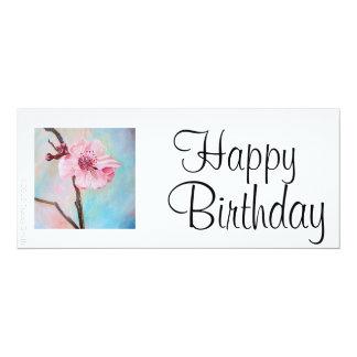 Cherry Blossom Birthday Card Personalized Invitations