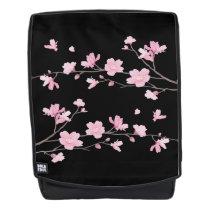 Cherry Blossom - Black Backpack