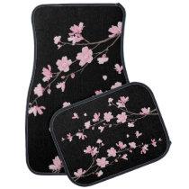 Cherry Blossom – Black Car Floor Mat