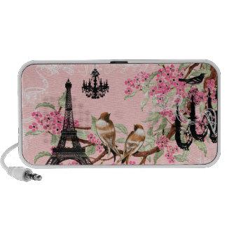 Cherry Blossom Black Chandeliers Eiffel Tower PC Speakers