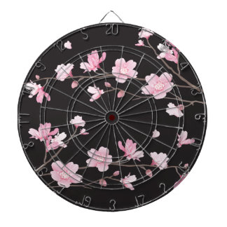 Cherry Blossom - Black Dart Board