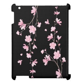 Cherry Blossom - Black iPad Cases