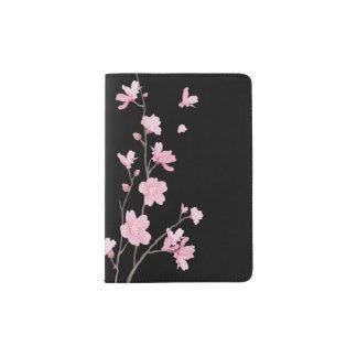 Cherry Blossom - Black Passport Holder