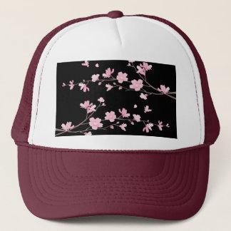 Cherry Blossom - Black Trucker Hat