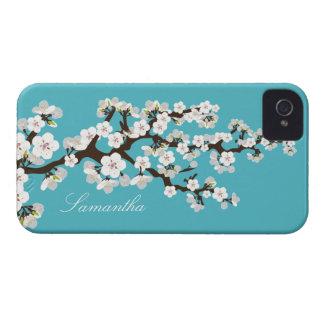 Cherry Blossom BlackBerry Bold Case (aqua/white)