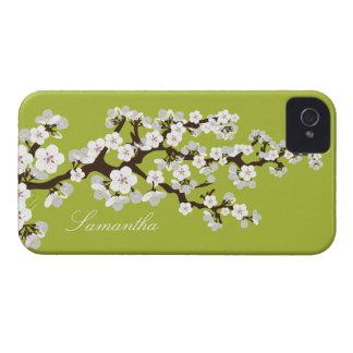 Cherry Blossom BlackBerry Bold Case (lime/white)