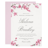 Cherry Blossom Bloom | Pink Wedding Invitation