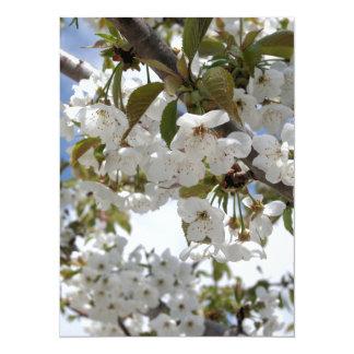 "Cherry Blossom Blooms 5.5"" X 7.5"" Invitation Card"
