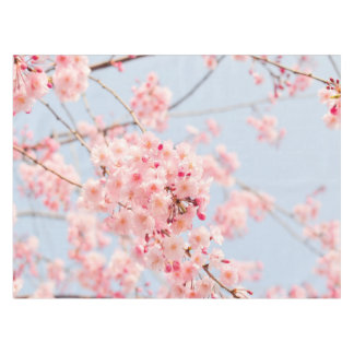 Amazing Cherry Blossom Blue Rose Lighthouse Route Decor Tablecloth